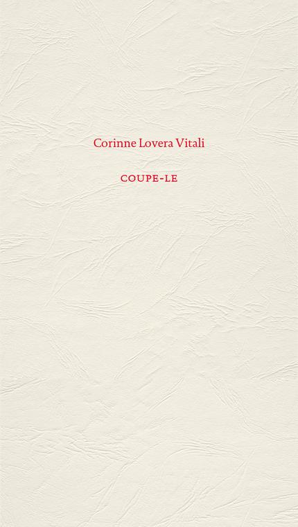 COUPE-LE - Corinne Lovera Vitali - éditions MF
